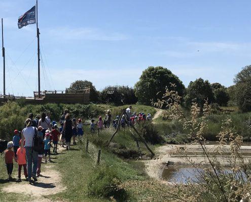 Visite Scolaire au coeur du Marais Salant, Les Sables d'Olonne, Vendée